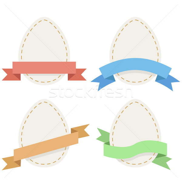 Pasen papier eieren vector ingesteld Stockfoto © tuulijumala