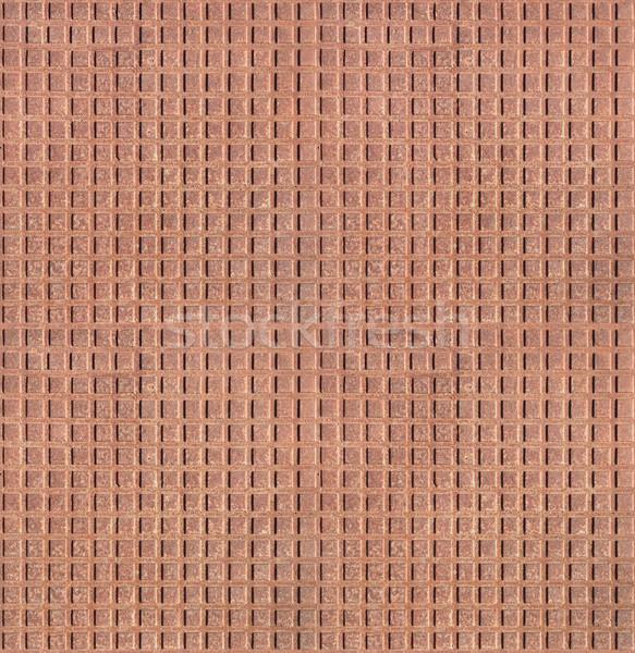Rusted corrugated metal plate seamless texture. Stock photo © tuulijumala