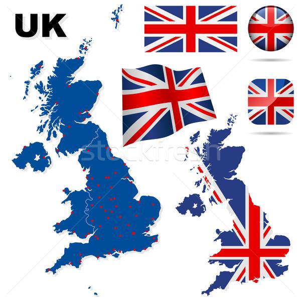Zdjęcia stock: Zjednoczone · Królestwo · wektora · zestaw · szczegółowy · kraju