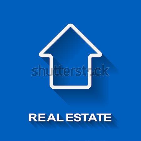 白い家 不動産 ベクトル テンプレート コピースペース ストックフォト © tuulijumala