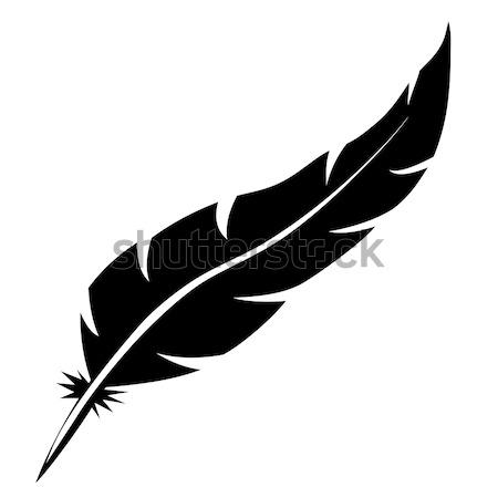 鳥 羽毛 ベクトル 孤立した 白 ストックフォト © tuulijumala