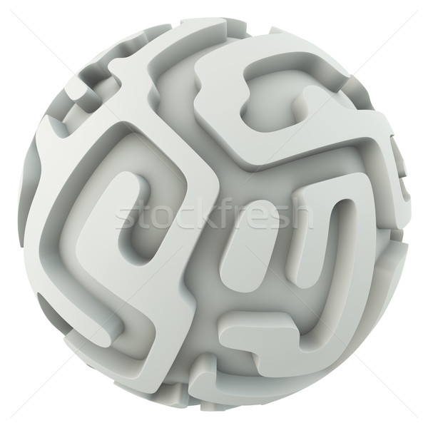 Infinite sphere maze concept 3D render. Stock photo © tuulijumala