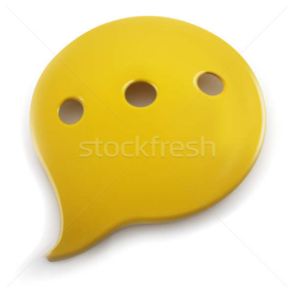 Plastic geïsoleerd witte teken communicatie Stockfoto © tuulijumala
