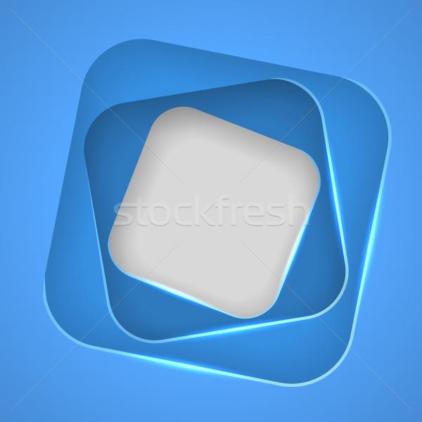Cut rounded square frames vector background. Stock photo © tuulijumala
