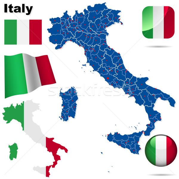 Сток-фото: Италия · вектора · набор · подробный · стране · форма