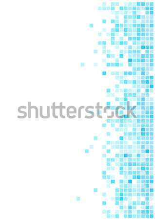 Abstract  blue mosaic vector background with copy space for the  Stock photo © tuulijumala