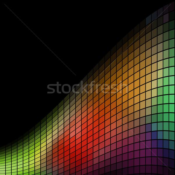 Abstract mozaiek golf zwarte exemplaar ruimte textuur Stockfoto © tuulijumala