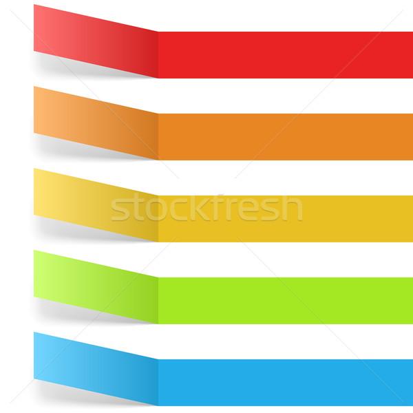 Colorful blank labels isolated on white background. Stock photo © tuulijumala