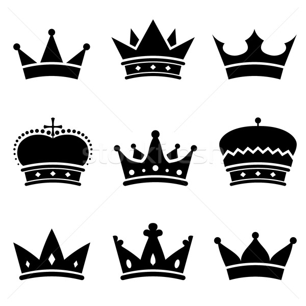 Stock photo: Crown shapes vector set.