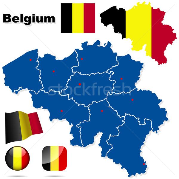 België vector ingesteld gedetailleerd land vorm Stockfoto © tuulijumala