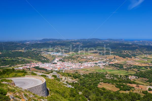 Es mercadal town viewed from Monte Toro Stock photo © tuulijumala