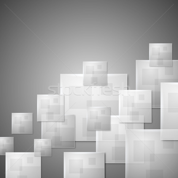 Abstract glass squares business vector background. Stock photo © tuulijumala