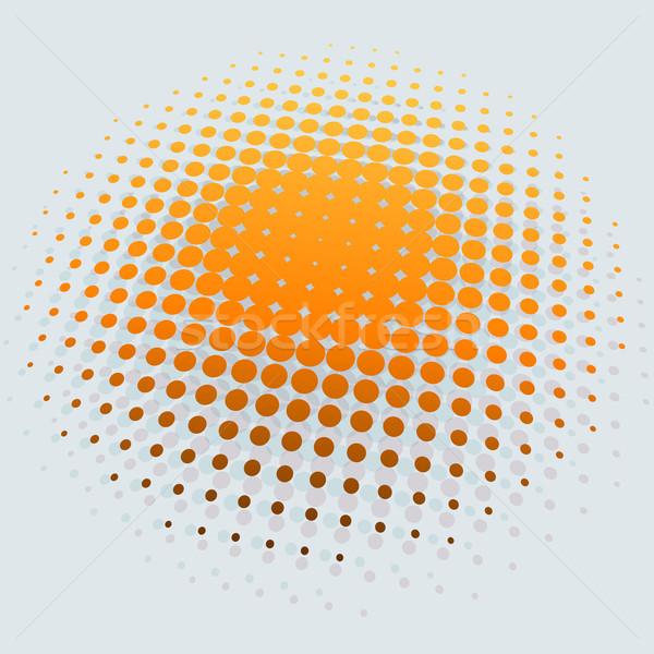 3D yellow sun halftone vector background. Stock photo © tuulijumala
