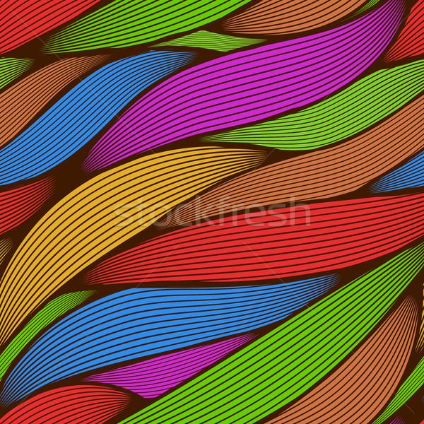 Naadloos abstract kleurrijk lijn kunst bladeren Stockfoto © tuulijumala