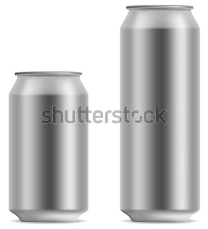 Blank beer can in 2 variants 330 and 500 ml isolated on white ba Stock photo © tuulijumala