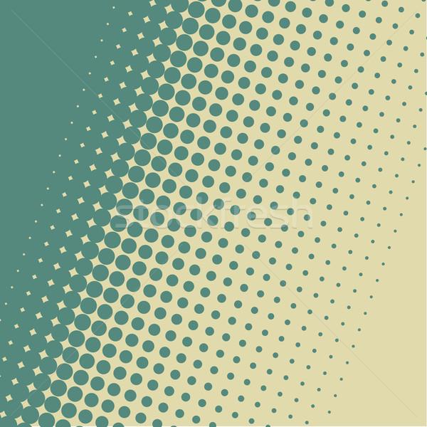 Blue green halftone vintage diagonal vector background. Stock photo © tuulijumala