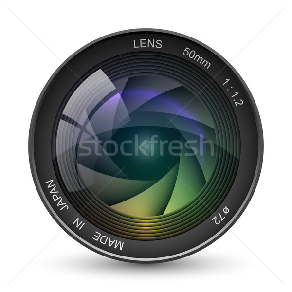 Front view of photo camera lens vector illustration isolated on  Stock photo © tuulijumala