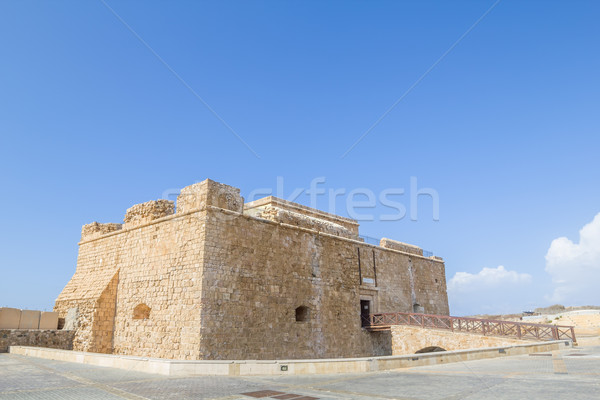 Paphos Castle located in the city harbour, Cyprus. Stock photo © tuulijumala