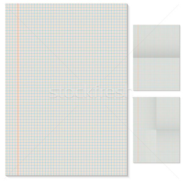 страница вектора шаблон сложенный имитация бизнеса Сток-фото © tuulijumala