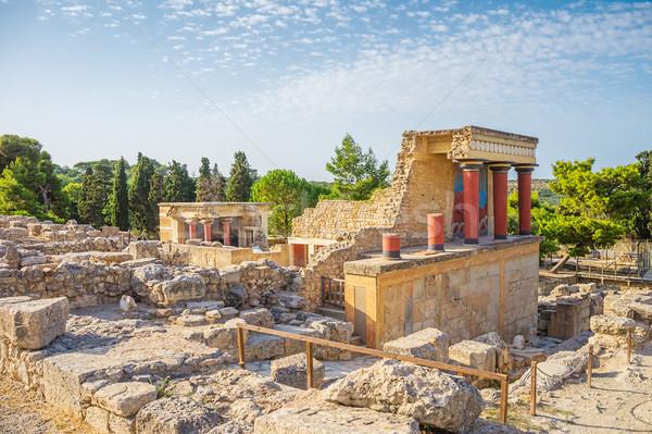 Knossos Palace ruin in sunny day, Crete, Greece. Stock photo © tuulijumala