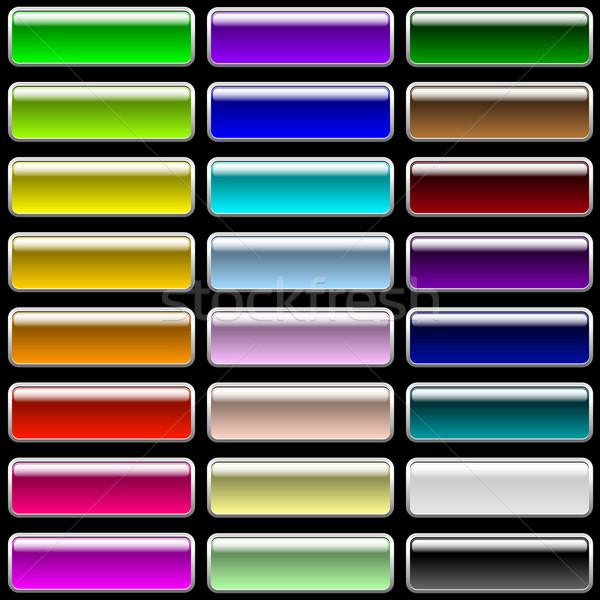 Vector establecer rectangular botones web Foto stock © tuulijumala