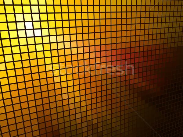 Foto stock: Abstrato · laranja · luz · 3D · mosaico · horizontal