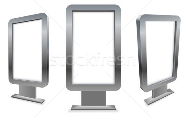 3D metal stand solo pavimento publicidad Foto stock © tuulijumala