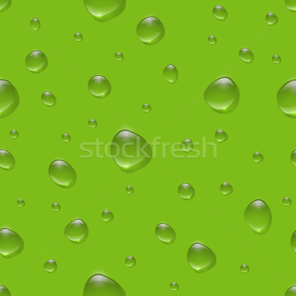 Seamless realistic water drops on color surface vector pattern. Stock photo © tuulijumala