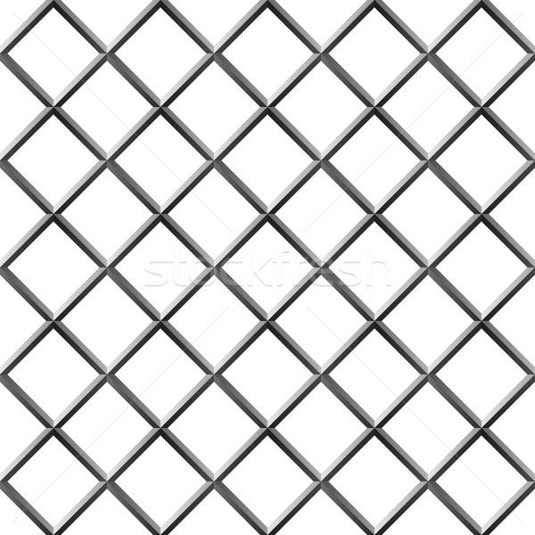 Naadloos metaal diamant vorm grill geïsoleerd Stockfoto © tuulijumala