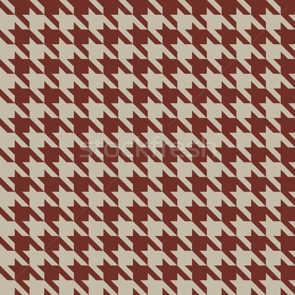 Seamless beige and red vintage houndstooth vector pattern. Stock photo © tuulijumala