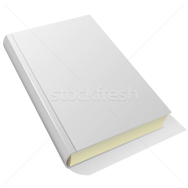 Lying blank hardcover book isolated on white background. Stock photo © tuulijumala
