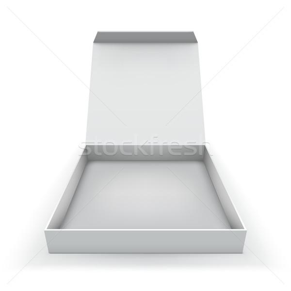 Stok fotoğraf: Kutu · kapak · yalıtılmış · beyaz · bilgisayar