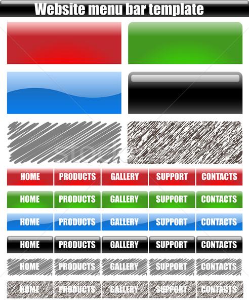 Vector set of web site menu bars isolated on white background. Stock photo © tuulijumala