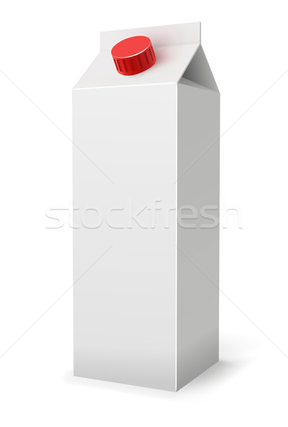 Milk or juice pack realistic vector illustration. Stock photo © tuulijumala