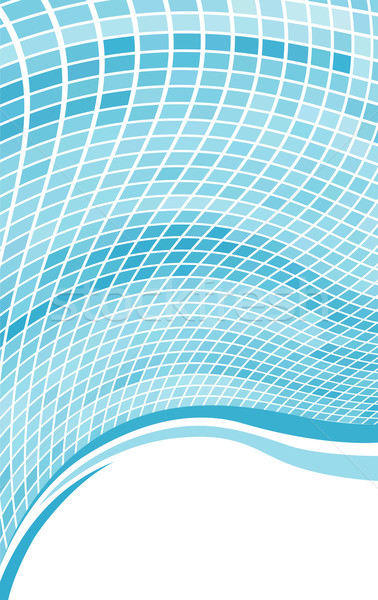 Abstract Blauw golf mozaiek exemplaar ruimte business Stockfoto © tuulijumala