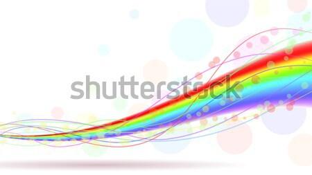 Stock fotó: Színes · szivárvány · vízszintes · copy · space · eps10 · akta
