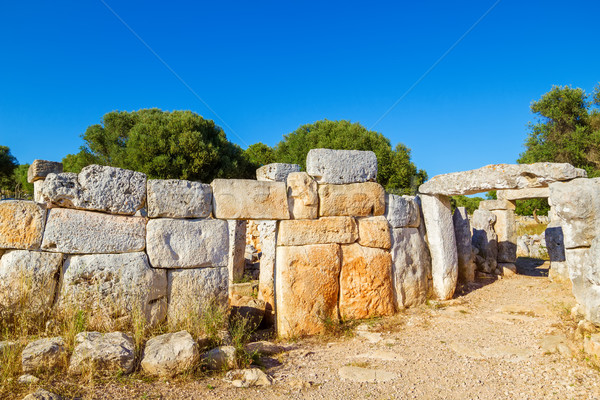 Torre d'en Gaumes (Galmes) - ancient talayotic town ruins at Men Stock photo © tuulijumala