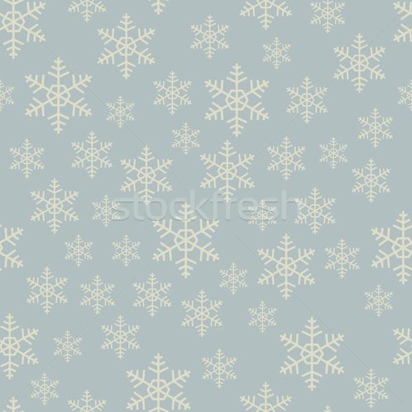 Naadloos grijs sneeuwvlok vector patroon textuur Stockfoto © tuulijumala