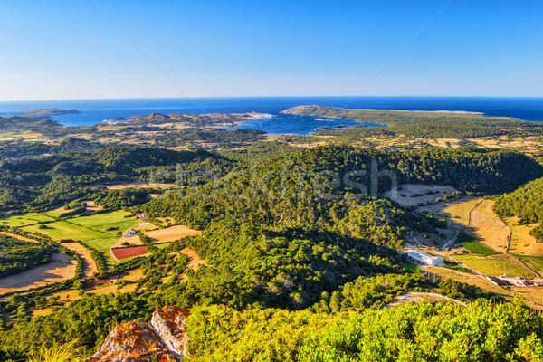 Menorca island at sunset landscape, Spain. Stock photo © tuulijumala