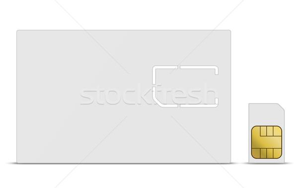 белый мобильных карт вектора шаблон технологий Сток-фото © tuulijumala