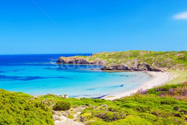 Tengerpart napos idő sziget Spanyolország természet kék Stock fotó © tuulijumala