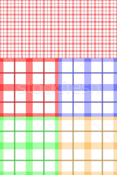 テーブルクロス ファブリック シームレス ベクトル パターン 4 ストックフォト © tuulijumala
