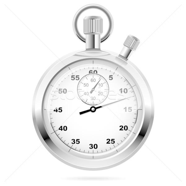 Retro mechanic chromed stopwatch Stock photo © tuulijumala