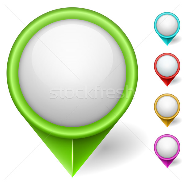 Térkép pozició szín vektor szett izolált Stock fotó © tuulijumala