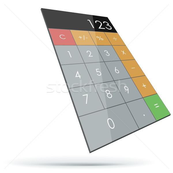 Abstract flat 3D calculator Stock photo © tuulijumala