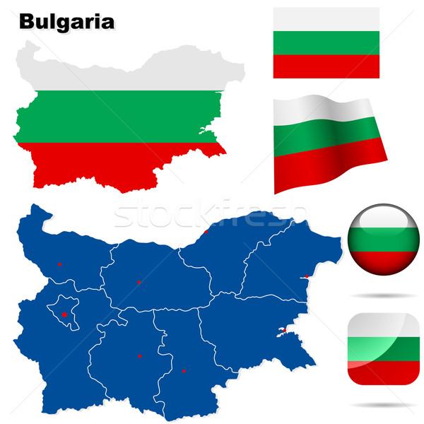 Сток-фото: Болгария · вектора · набор · подробный · стране · форма