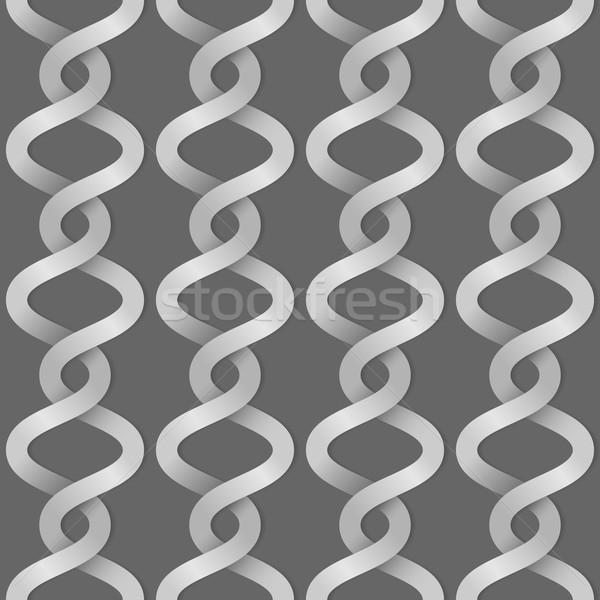 Braided paper stripes seamless vector background. Stock photo © tuulijumala