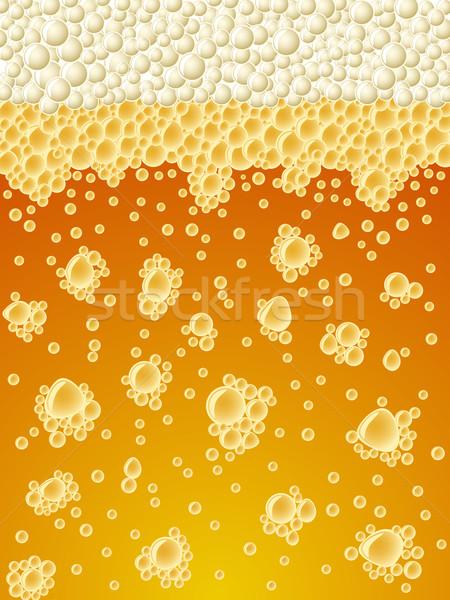 Abstract foamy light beer vertical vector background. Stock photo © tuulijumala