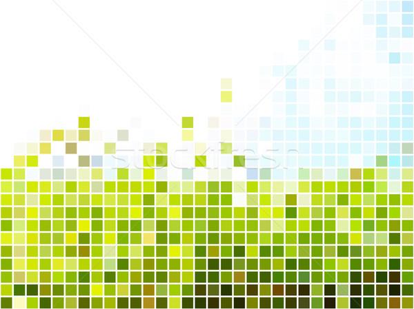 抽象的な 薄緑 青 広場 モザイク 光 ストックフォト © tuulijumala
