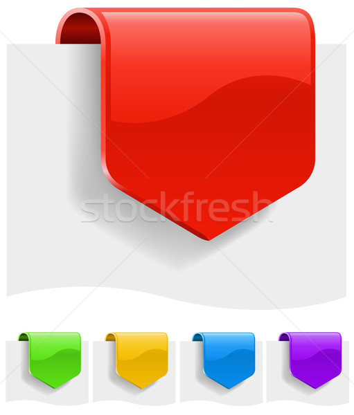 Blank discount labels in different color variants.  Stock photo © tuulijumala
